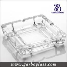 Cinzeiro de vidro quadrado de vidro
