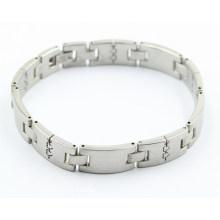 Venda quente em aço inoxidável saúde moda pulseira