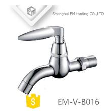 EM-V-B016 cromado polimento longo pescoço latão máquina de lavar roupa bibcock