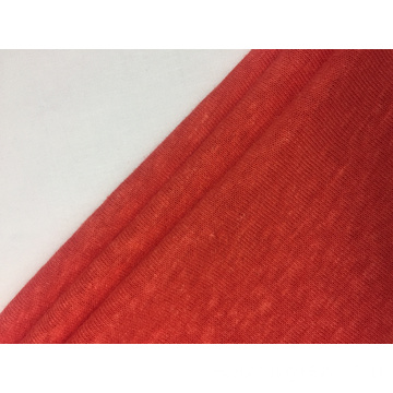 Leinen Polyester Single Jersey Solid Fabric