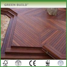 Couleur café détresse Anti-dérapant IPE bois dur terrasse extérieure