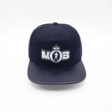 PU Brim impresión bajo visera PVC grabado logo Hip-Hop Cap (ACEW120)
