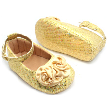 Baby Dress shoes Wholesale Gold Sequin Baby Shoes Girl