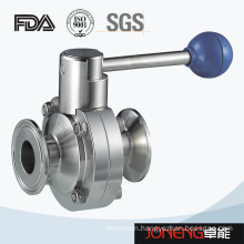Stainless Steel Sanitary Clamped Small Size Butterfly Valve (JN-BV4004)