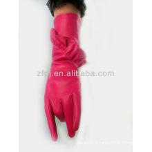 Luva de couro rosa