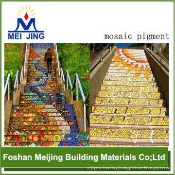 high quality pigment powder exhibition floor system for mosaic