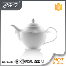 Hot sale high quality porcelain tea pot with handle