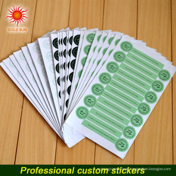 Digital Printing Vinyl Label Sticker With Laser Die Cut Sticker Shape