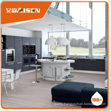 Good service wooden touch feel wood veneer kitchen cabinet