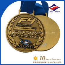 Campeonato Australiano Medalla de Oro de Metal Antiguo Acabado Personalizado Medalla Deportiva