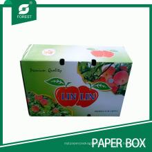 Caixa de embalagem de papelão ondulado para maçãs
