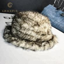 Chapéu de lã de brimmed tricotado personalizado à prova de vento