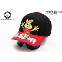Custom Heat Transfer Printing Algodão Kids Baseball Hat com óculos de sol