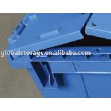 Recipiente de armazenamento de assentamento de plástico