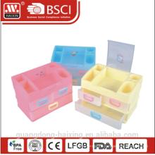 Популярные секционные пластиковые хранения ящик (2 слоя)
