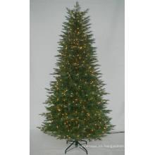 Árbol de Navidad artificial realista con luz de cadena Decoración multicolor incandescente (AT2121)