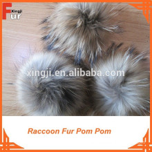 Top Quality Natural Brown Raccoon Fur Pompon