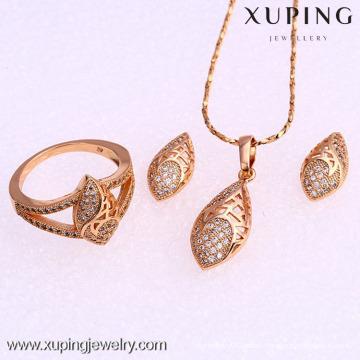 Juego de mujer 62010-Xuping Jewlery con baño de oro de 18 quilates