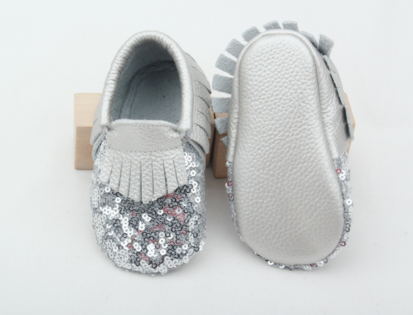 Baby Sequin Moccasins shoes