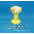 Copa de huevo de cerámica pintada a mano para la decoración de Pascua