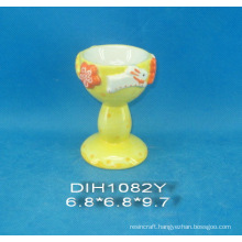 Hand-Painted Ceramic Egg Cup for Easter Decoration