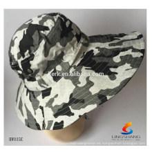 Sombrero del boonie del vestido de la manera Gorra al aire libre del sombrero de la pesca de la alta calidad del camuflaje de encargo Gorra al por mayor del cubo de encargo