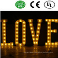 Romantic LED Front Lit Bulb Letter Sign-Love for Wedding