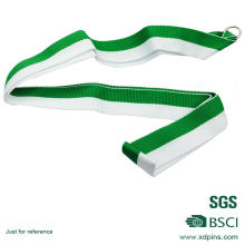 Customized Simple Design Green & White Medal Lanyard