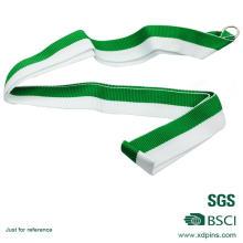 Cordão de medalha verde & branca de design simples personalizado