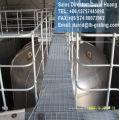 Paneles de celosía de acero galvanizado, sistema de suelo de malla de acero galvanizado,