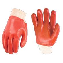 ПВХ с покрытием трикотажные запястья промышленные рабочие перчатки цена