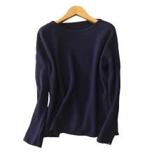 Lady plus Größe schwere Pullover Rundhals einfarbig dongguan Fabrik 100% reine Kaschmirpullover Pullover