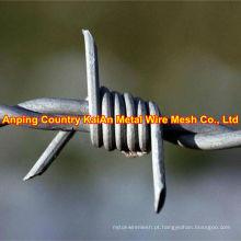 Vários de arame farpado galvanizado / PVC fio de barbear revestido / arame farpado ---- 30 anos de fábrica