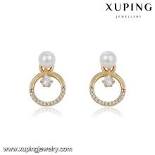 94065 dernière conception bijoux cercle forme perle dames boucles d'oreilles
