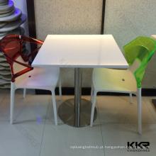 Mesa de bistrô acrílica de superfície sólida para 2 pessoas