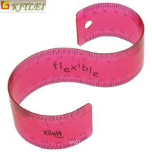 Ferramenta de medição Fonte de escritório Flexível plástico Rolling Rulers