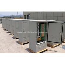 576 F Cabinet de câbles croisés à l'extérieur de la fibre de terre