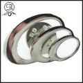 Hollow silver spiral pin badge metal