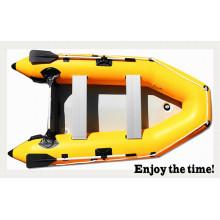 Gelbes 0.9mm vielseitiges aufblasbares Boot PVCs zum Angeln und zur Erholung