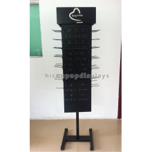 Creative Heavy Duty Freestanding Large Rotating Pegboard Display Stand Floor Spinner Display Racks