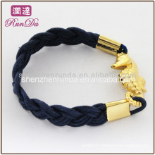 2014 hot gift items fashion wax rope bracelets with hippocampus