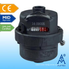 MID Certificated Volumetric Piston Type Plastic Water Meter
