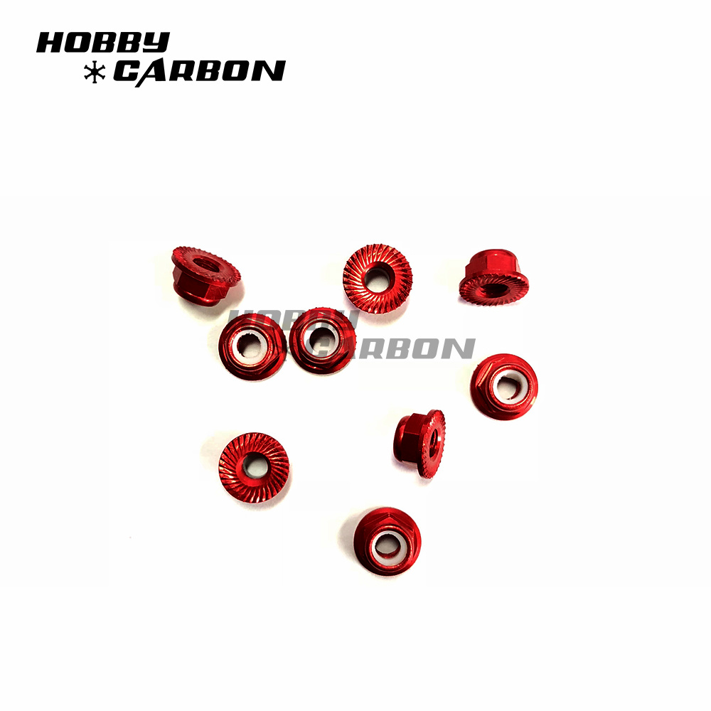 Red Aluminum Nuts