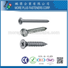 Made in Taiwan Screw Factory Flat Countersunk Head Self Tapping Screw Machine Screw