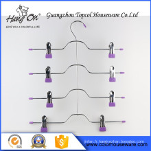 Hard Drawing purple clip Wire Hanger , Underwears Scarfs Wire Hanger