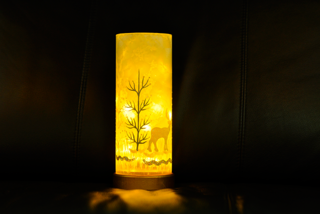 LED Glass with Reindeer