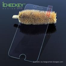Protector de pantalla deslizante de cristal templado para Iphone7 con color cristalino