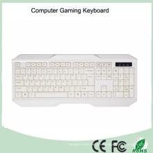 Teclado de computadora con cable USB de primera calidad (KB-1801-W)
