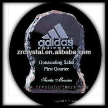 design attrayant blanc trophée de cristal X062
