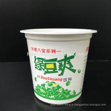 Tasse de crème glacée en plastique jetable à emporter blanche PP de catégorie comestible de prix usine de catégorie 10oz / 315ml